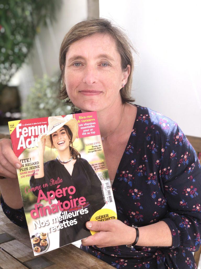 Virginie Brevard -d'Aromaconseils - Article 5 huiles essentielles spécial enfants dans Femme Actuelle